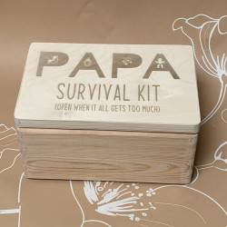 Bewaarkist | Papa survival kit